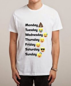 Monday Tueasday Wednesday Thursday Friday Satuerday Sunday Unisex Tshirt