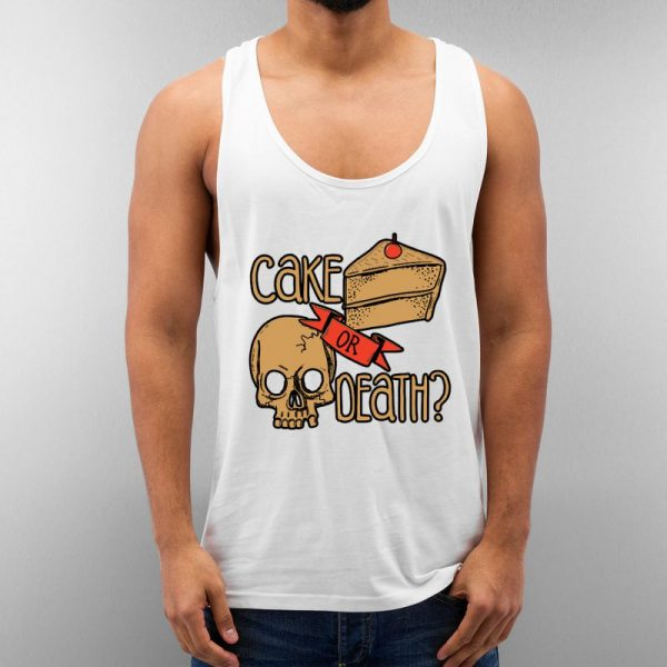 Cake Or Deth Unisex Tank Top Cheap Custom