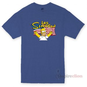 Les Simpson America Flag T-shirt cheap Custom