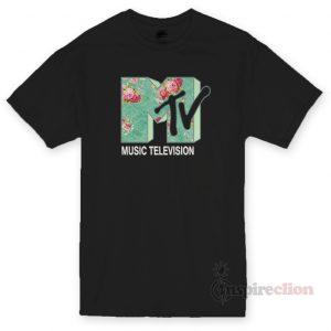 MTV Floral Logo T-Shirt Unisex Cheap Custom