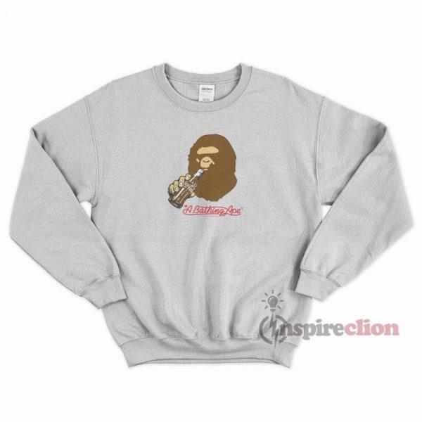 Bape x Coca Cola Ape Head Sweatshirt Cheap Custom