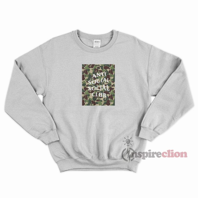 bcb2e0fdd71e Anti Social Social Club x BAPE Sweatshirt Cheap Custom ...