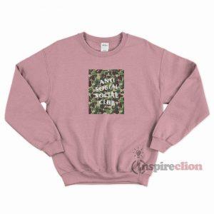 Anti Social Social Club x BAPE Sweatshirt Cheap Custom