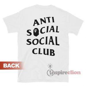 Anti Social Social Club x BAPE T-shirt Cheap Custom