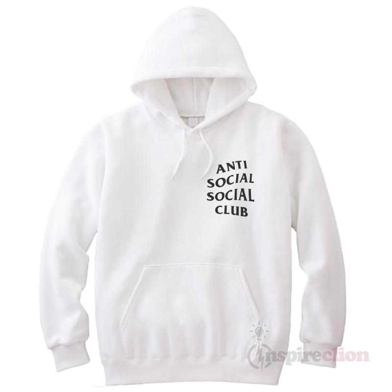 Anti social club clothing hoodie cheap custom for Affordable custom dress shirts online