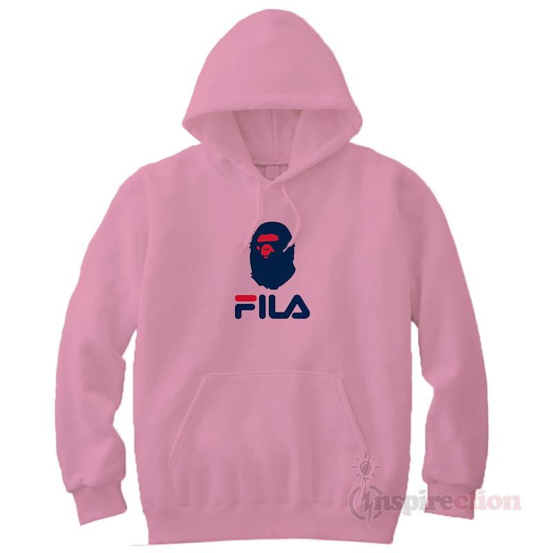 fila hoodie pink