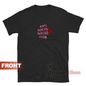 Anti Social Assc With Roses T-shirt Cheap Custom