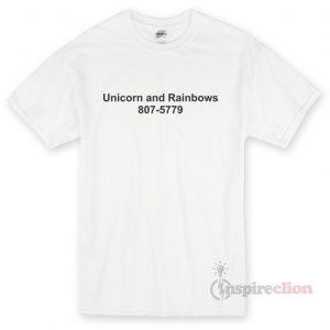 unicorn and rainbow fabric T-shirt Cheap Custom