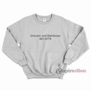 Unicorn And Rainbow Fabric Sweatshirt Cheap Custom