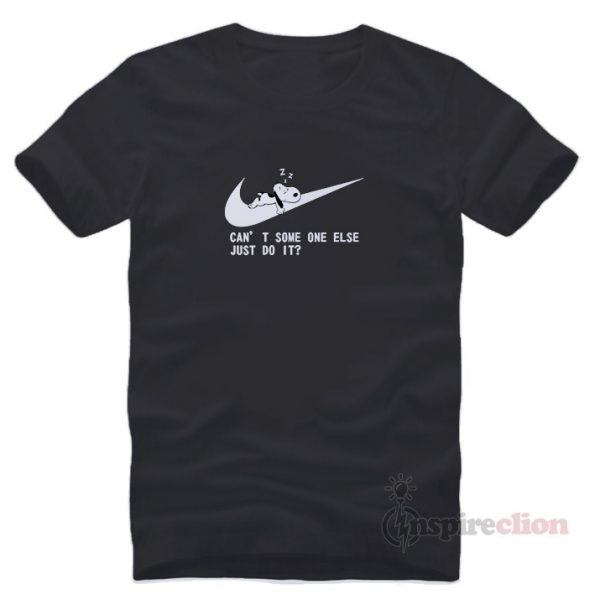 For Sale Snoopy Just Do It Nike Parody T-shirt Uniseex