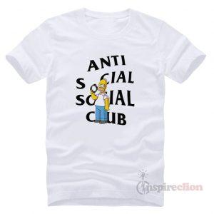 Anti Social Social Club ASSC Homer Simpson T-shirt