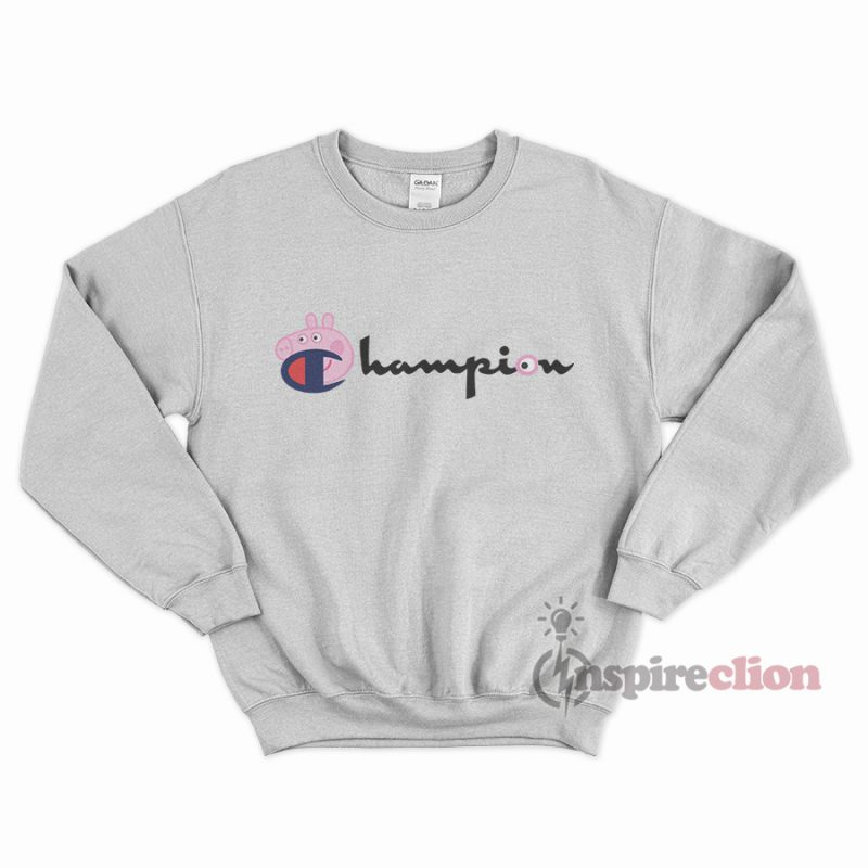 90442bdef91b For Sale Champion Collab Peppa Pig Cartoon Sweatshirt - Inspireclion.com