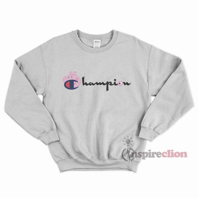For Sale Champion Collab Peppa Pig Cartoon Sweatshirt Cheap Trendy