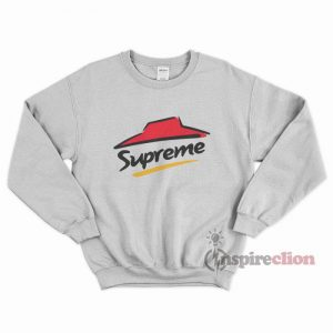 For Sale Supreme x Pizza hut logo Cheap Trendy Sweatshirt
