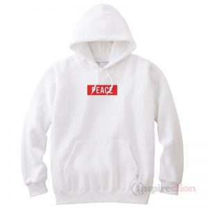 For Sale Peace Red Box Logo Hoodie logo Hoodie