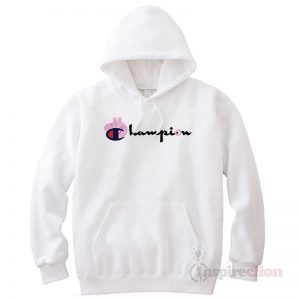 Champion Collab Peppa Pig Cartoon Cheap Trendy Hoodie