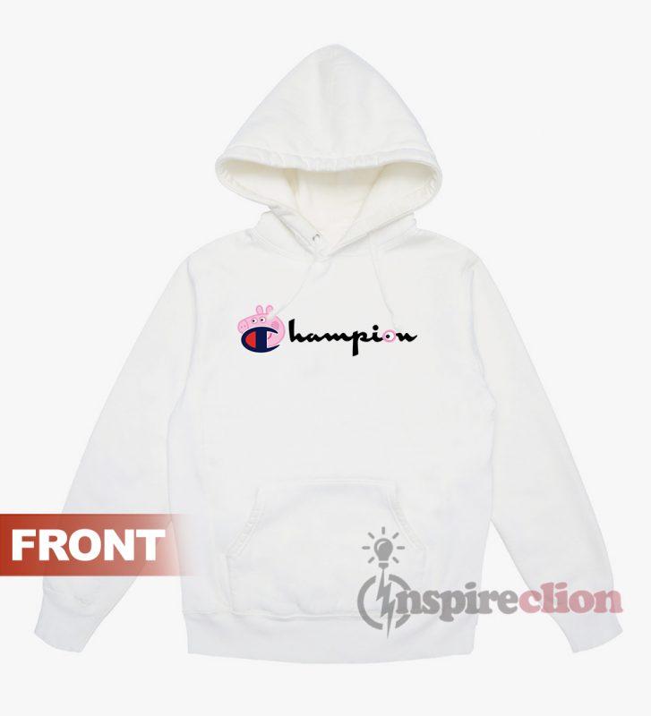 54f7ef904d30 Champion Collab Peppa Pig Cartoon Cheap Trendy Hoodie - Inspireclion