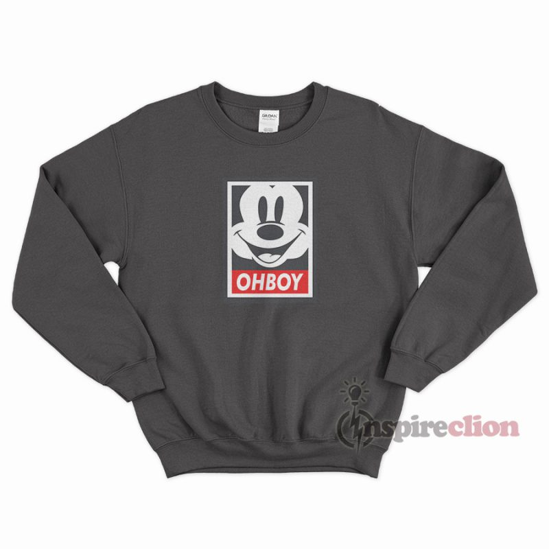 d356bed7 For Sale Oh Boy Mickey Mouse Obey Sweatshirt Trendy Clothes ...