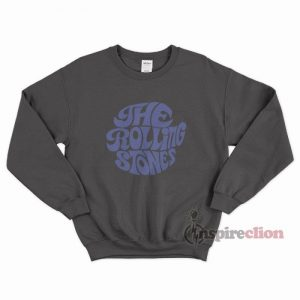 The Rolling Stones Merchandise Blue Printed Sweatshirt
