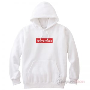 Tokyomuse Supreme Parody Red Box Logo Cheap Trendy Hoodie
