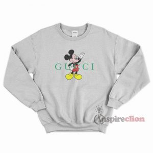 Mickey Mouse Parody Gucci Sweatshirt Cheap Trendy