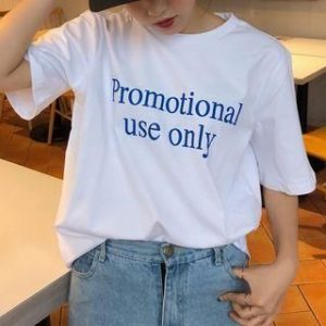 Promotial Use Only Lettering Short Sleeve T-Shirt