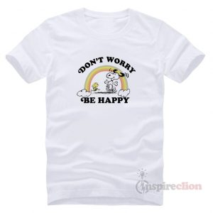 Peanut Snoopy Don't Worry Be Happy Vinatge T-Shirt