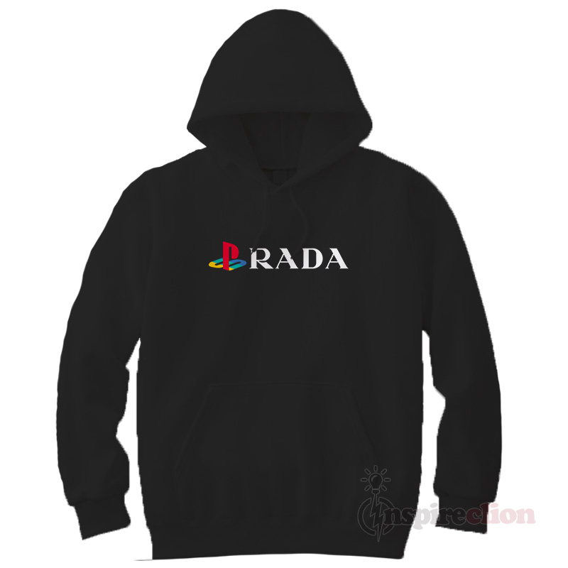 56a5e9fcbc6c40 Buy or Shop Playstation Prada Funny Hoodie Trendy Custom ...