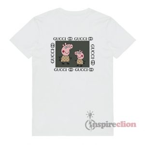Fancy Peppa Pig Gucci Logo Parody Funny T-Shirt Unisex