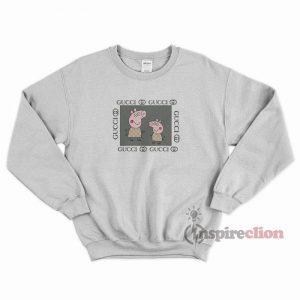 Fancy Peppa Pig Gucci Logo Parody Funny Sweatshirt