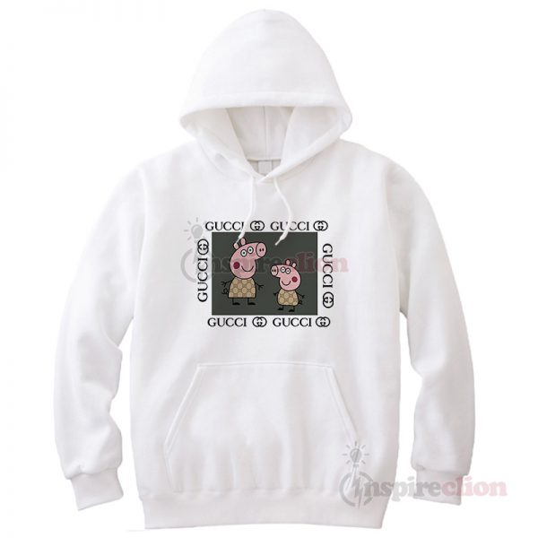 Fancy Peppa Pig Gucci Logo Parody Hoodie Unisex