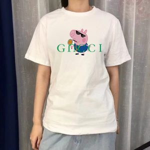 For Sale Peppa Gacci Parody Gucci Logo T-Shirt