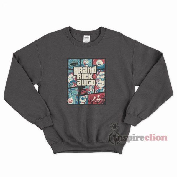 Grand Rick Auto Parody GTA Funny Sweatshirt Hype