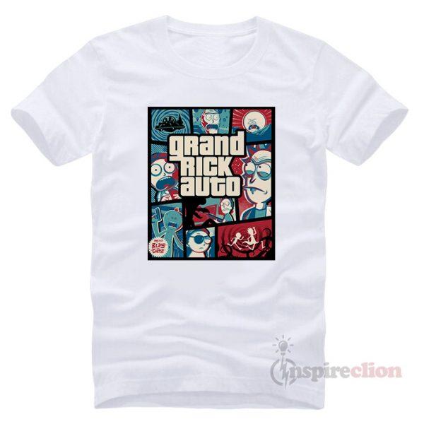 Grand Rick Auto Parody GTA T-shirt Cheap Custom