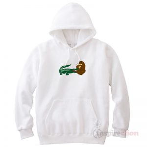 The Lacoste Crocodile X Bape Aape Head Hoodie Hype