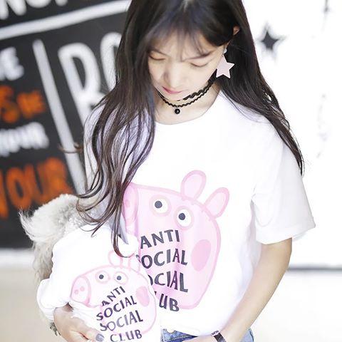 Anti Social Social Club Collab Peppa Pig Funny T-Shirt