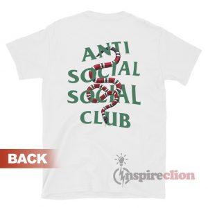 Anti Social Social Club x Gucci Snake T-shirt Unisex