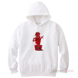 Groot Fake Deadpool Hoodie Clothes Unisex