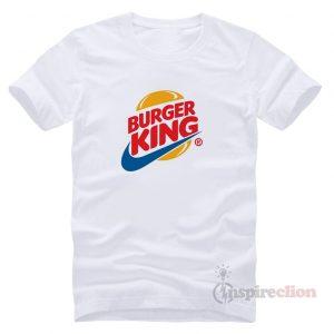 Fast Food Sportswear Parody Logo Nike x Burger King T-shirt