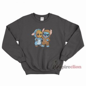 Baby Groot And Stitch Funny Sweatshirt Unisex
