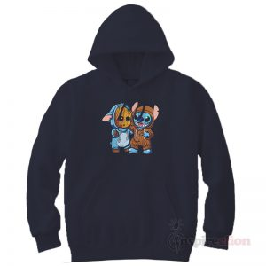 Stitch And Groot Hoodie Clothes Unisex