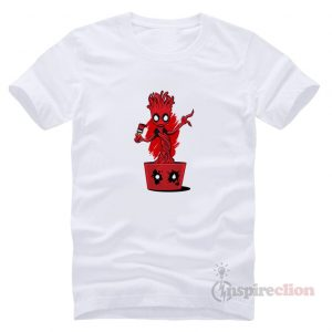 Baby Groot Fake Deadpool Praody T-shirt