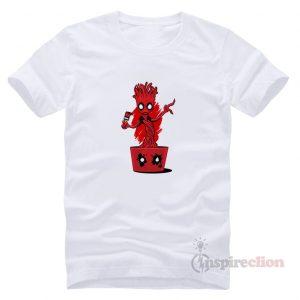 Baby Groot Fake Deadpool Praody T-shirt