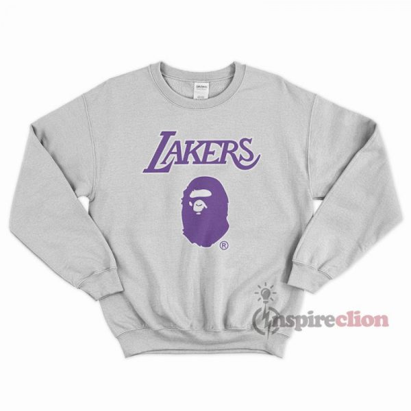 Bape x Mitchell Ness Lakers Sweatshirt