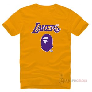Bape x Mitchell Ness Lakers T-Shirt