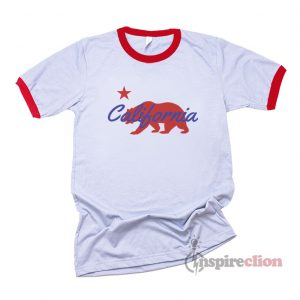 California Republic State Bear Ringer T-Shirt