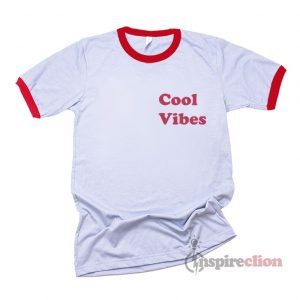 Good Vibes Ringer T-Shirt Trendy