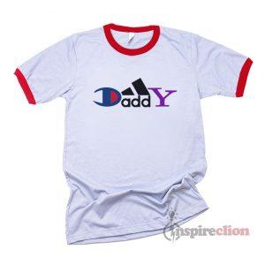 Daddy Champion Brand Parody Ringer T-Shirt