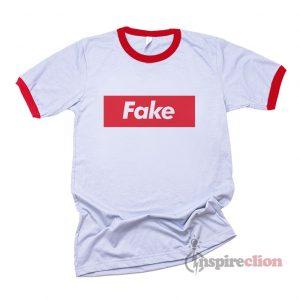 Fake Supreme Parody Red Box Ringer T-Shirt