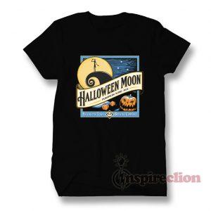 Halloween Moon Jack Skellington T-Shirt Custom